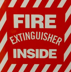 fire extinguisher inside
