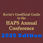 Kevin's Guide to the HAPS Annual Conference 2020