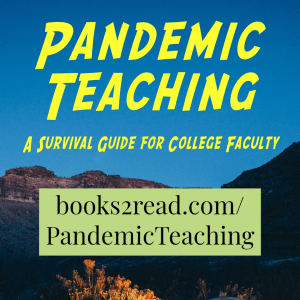 Pandemic Teaching book cover with URL