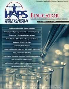 HAPS Educator cover, Spring 2020