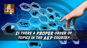 "nonlinear web with caption ""is there a proper order of topics in the A&P course?"""