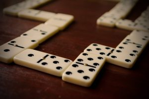 domino game in progress