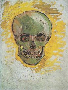 Vincent Van Gogh's painting of a skull