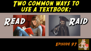 two common ways to use a textbook: read, raid