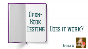an open blank book with caption: open-book testing, does it work?