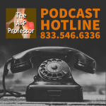old-style phone with caption: podcast hotline 833.546.6336